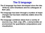the s language