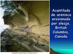 acantilado de arenisca erosionado por oleaje british columbia canada