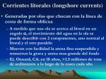 corrientes litorales longshore currents