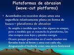 plataformas de abrasion wave cut platforms