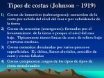 tipos de costas johnson 1919