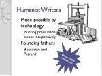 humanist writers