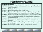 follow up speaking11