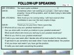 follow up speaking7