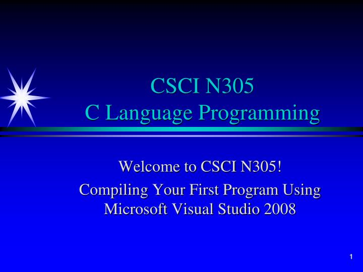 csci n305 c language programming n.