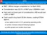 eps why it is a more appropriate measure than profit before tax