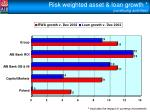 risk weighted asset loan growth continuing activities