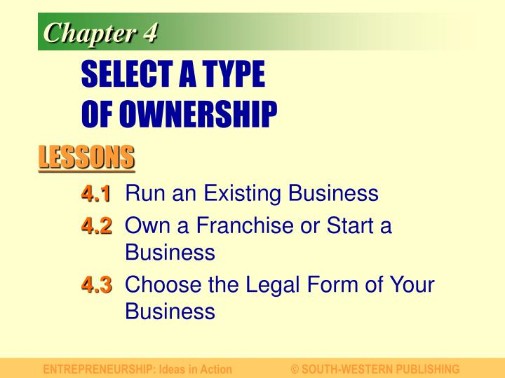 select a type of ownership n.