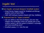 ingalls test
