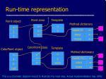 run time representation
