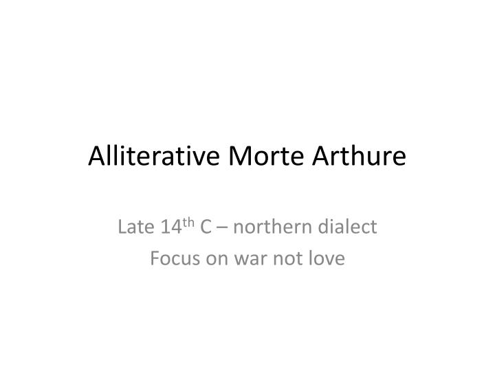 alliterative morte arthure n.