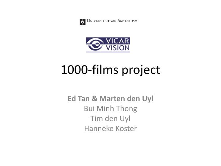 1000 films project n.