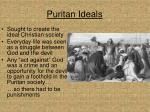 puritan ideals
