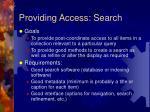 providing access search
