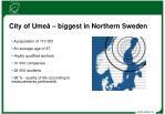 city of ume biggest in northern sweden
