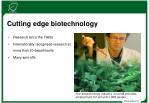 cutting edge biotechnology