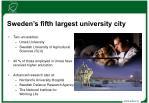 sweden s fifth largest university city