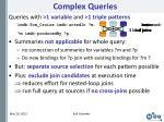 complex queries