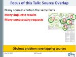 focus of this talk source overlap