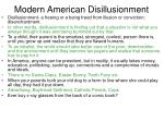 modern american disillusionment