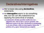 declaratives interrogatives