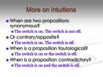more on intuitions