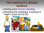 the meaning of a simple sentence
