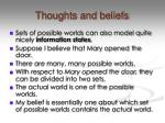 thoughts and beliefs