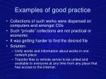e xamples of good practice1