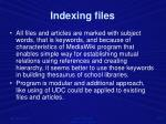 indexing files