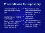 preconditions for repository1