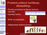 problemi prilikom kori tenja mediawikija1