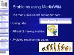 problems using mediawiki1