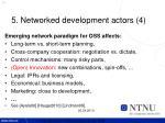 5 networked development actors 4