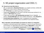 5 se project organization and oss 1
