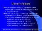 memory feature