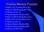 practice memory function