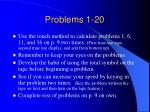 problems 1 20