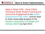 ideas to action implementation