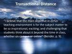 transactional distance1