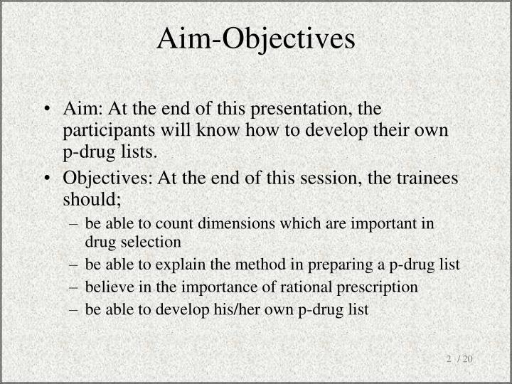 Aim objectives