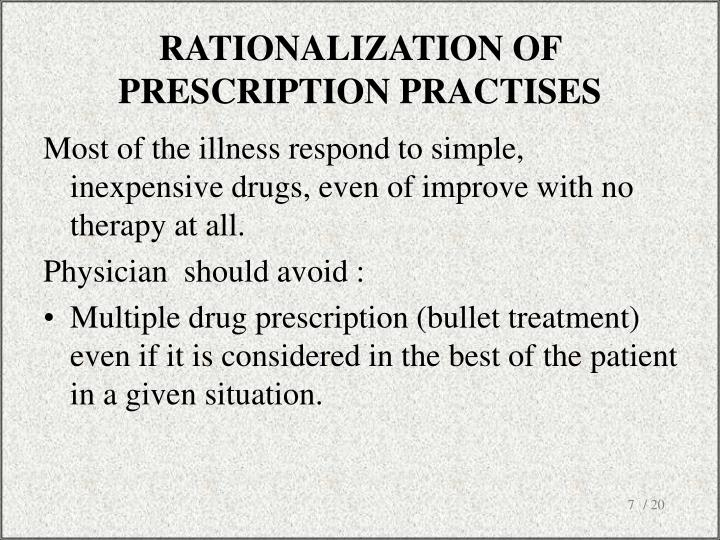 RATIONALIZATION OF PRESCRIPTION PRACTISES