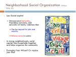neighborhood social organization wilson 1996 20