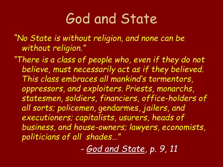 God and State