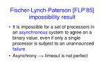 fischer lynch paterson flp 85 impossibility result