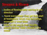 streams rivers