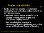 attacks on availability