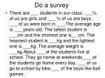 do a survey