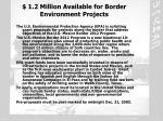 1 2 million available for border environment projects