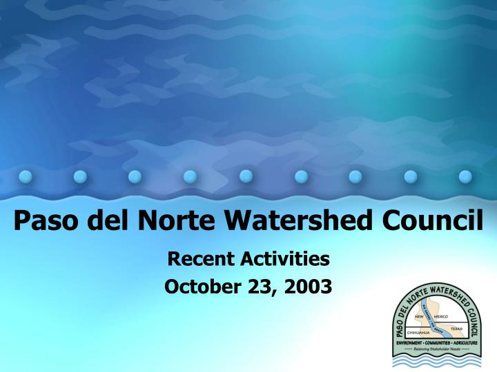 paso del norte watershed council n.